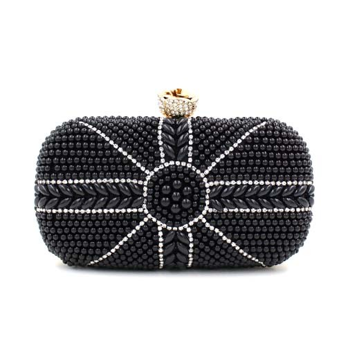 Noble Fashion Bag Pearl Diamond Wedding Evening and Clutch Bag (XW0945)