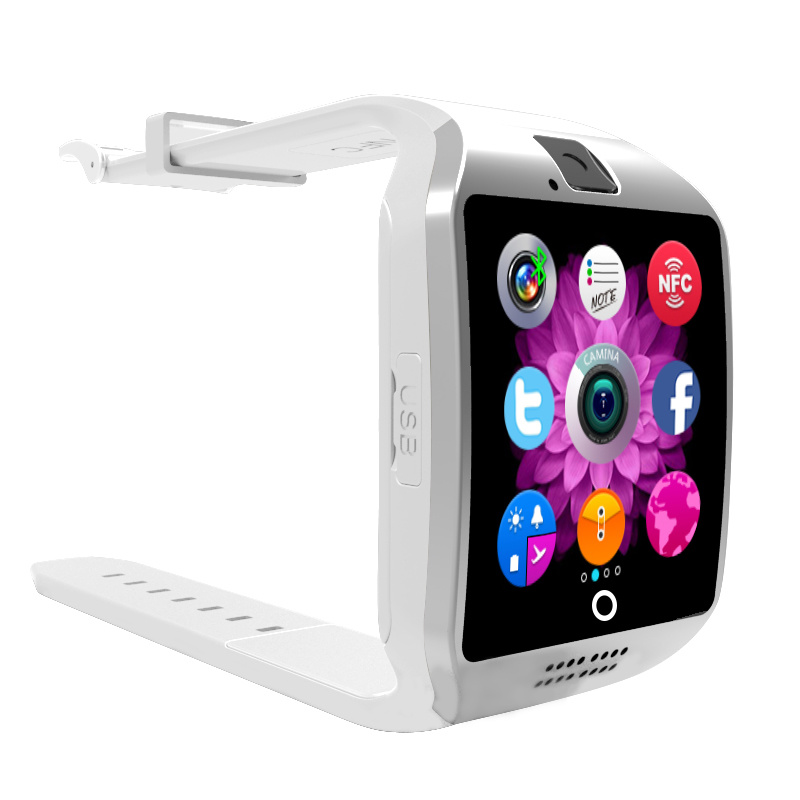 Smart Watch Phone Bluetooth Bracelets in HD High Sensitive Capacitive Touch Screen Anti Lost, Pedometer, NFC, Sleep Monitor Sync ISO / Android Phone