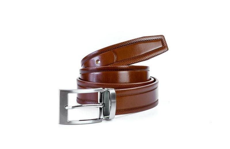 Italian Full Grain Leather Fashion Men′s Genuine Leather Belt Dress Belt