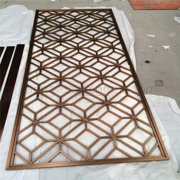 Foshan Art Screen Factory PVD Coated Color Stainless Steel Art Room Divider Screen 8k Mirror Finish