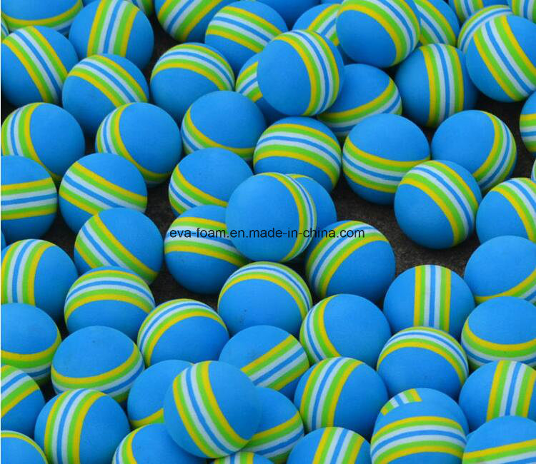 Kids Funny Toy Balls 3.5cm Rainbow Color EVA Material Ball Foam Sponge Children′s Toys