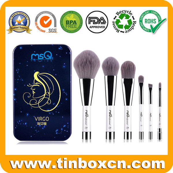 Rectangle Metal Packaging Tin for Portfolio Cosmetic Sets