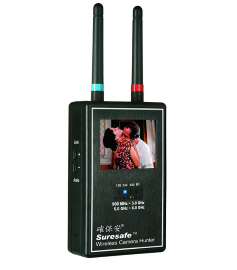 Video Scanner Image Display Multi Wireless Camera Lens Detector Full-Range Wireless Camera Hunter Anti-Candid Video Camera Mini Camera for Privacy Protection