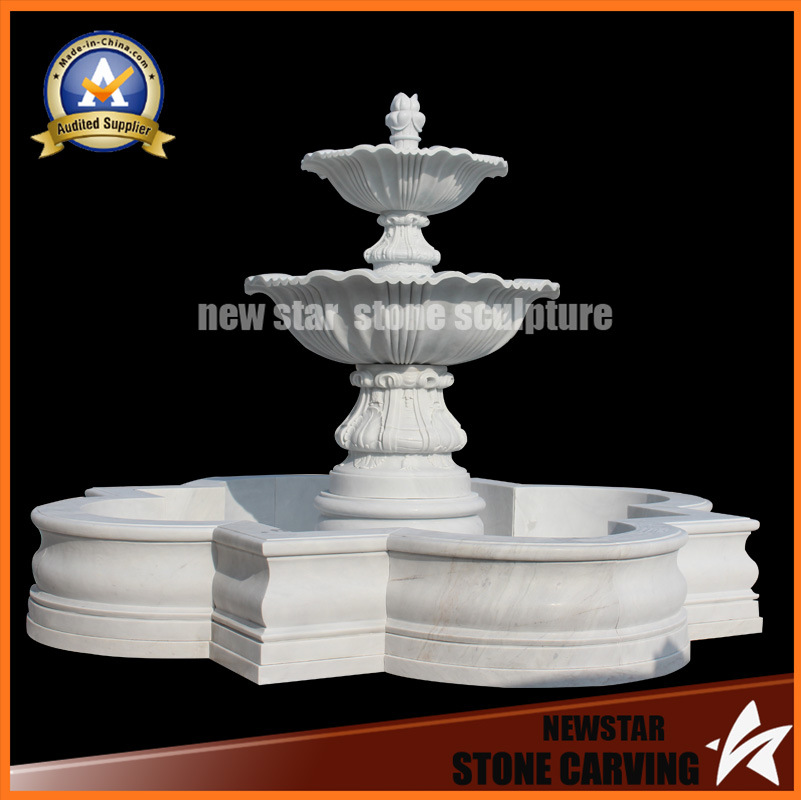 Stone Carving Marble Sculpture Water Fountain for Garden Decoration