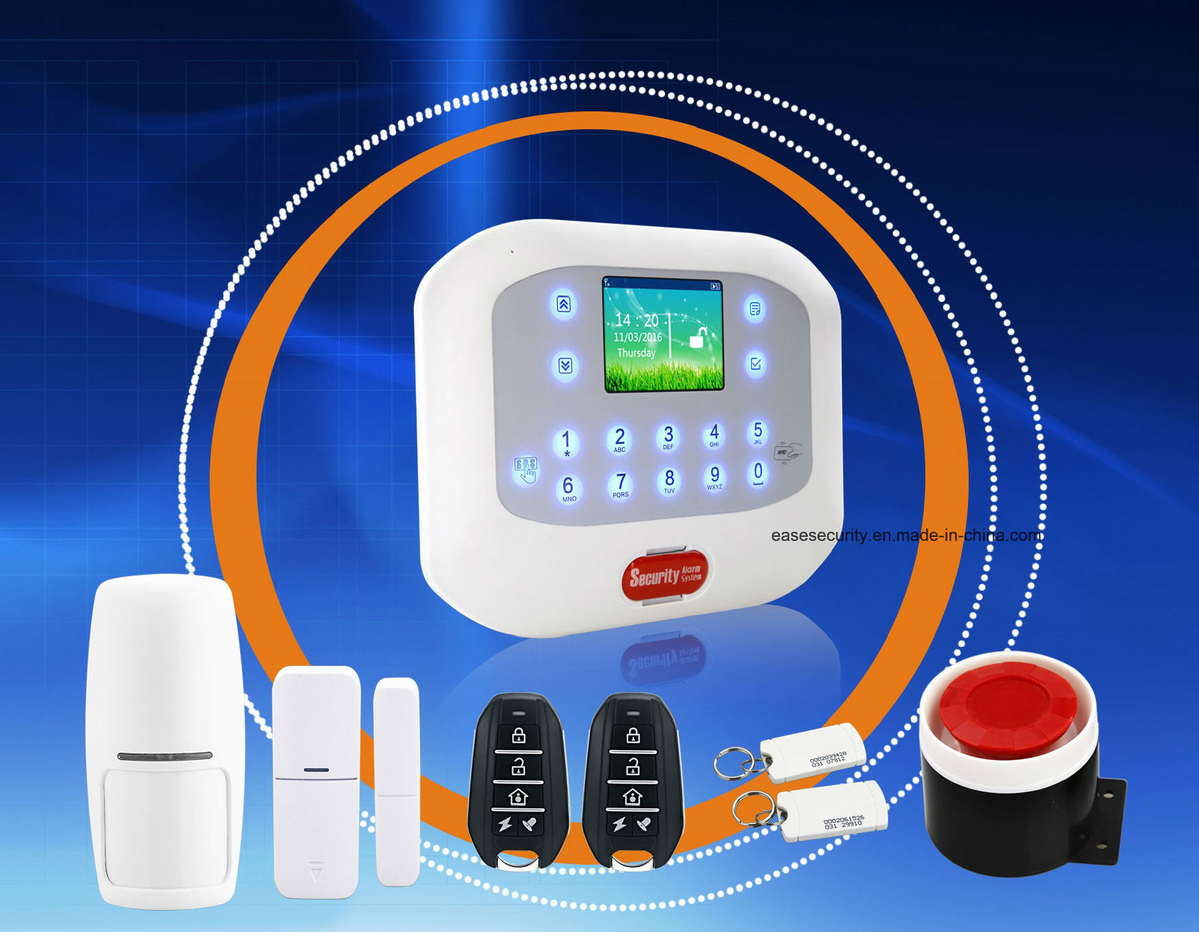 Home Security GSM Alarm with RFID Function for Burglar Alarm (ES-G50A)