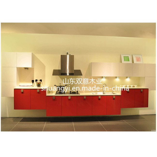 MDF Plywood Kitchen Cabinet with Wood Doors