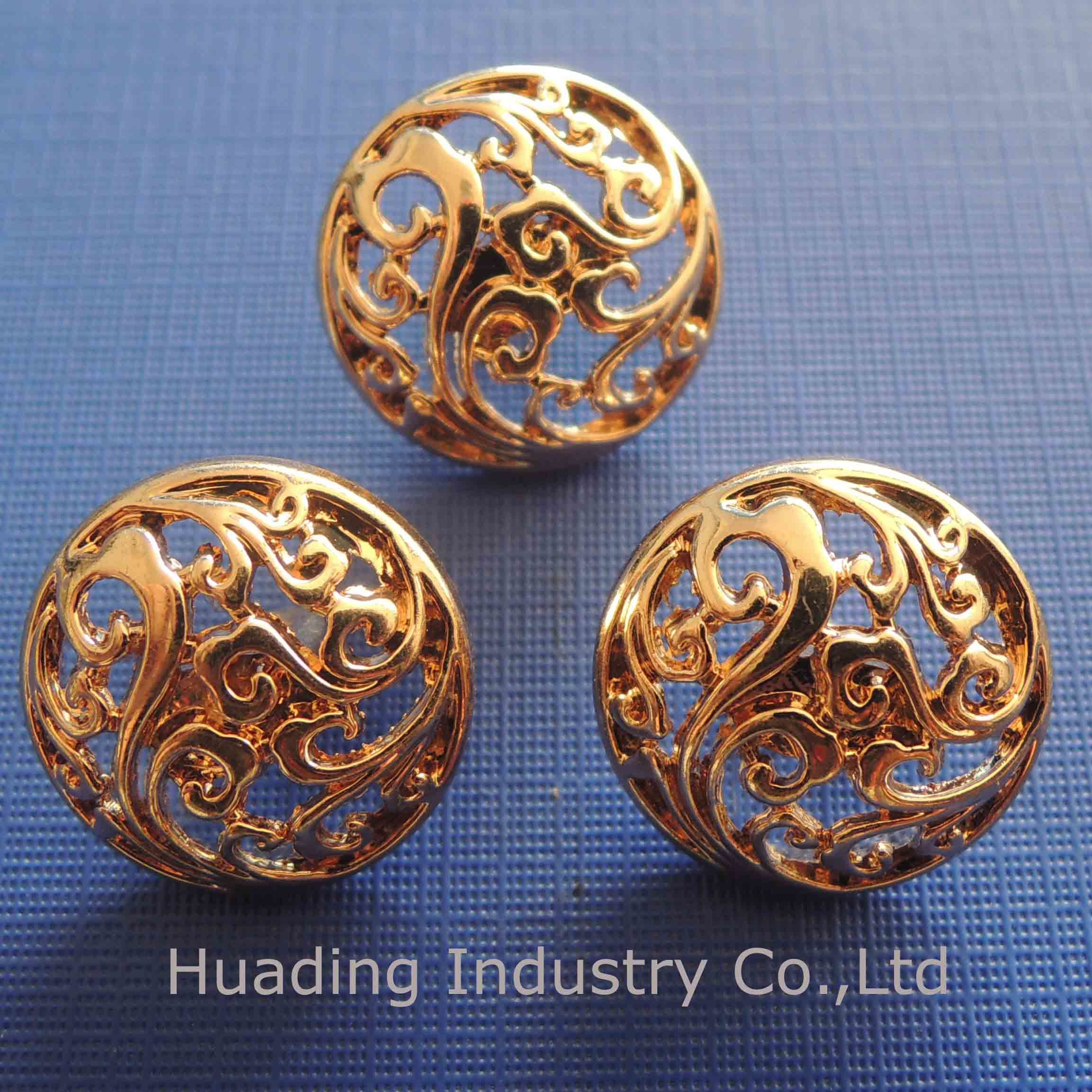 Hollowed Metal Sewing Button for Garment (HSB00096)