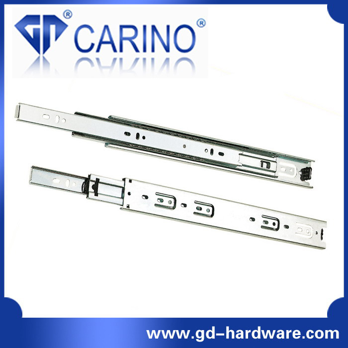 (4503) Top Quality Telescopic Drawer Channel /3-Fold Steel Ball Bearing Slide