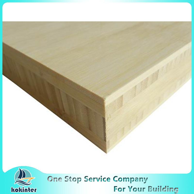 H Shape I Shape 12mm Natural Color Bamboo Plywood Furniture Board/Skate Board
