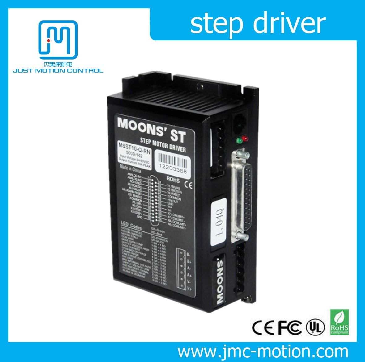 Bipolar St Series Intelligent Stepper Driver (MSST5/10-S)