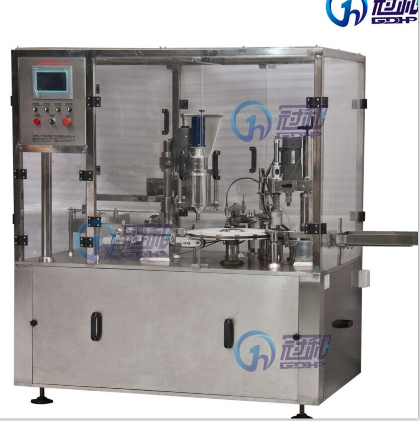 Automatic Bottle Powder Filling Machine with Capping Line