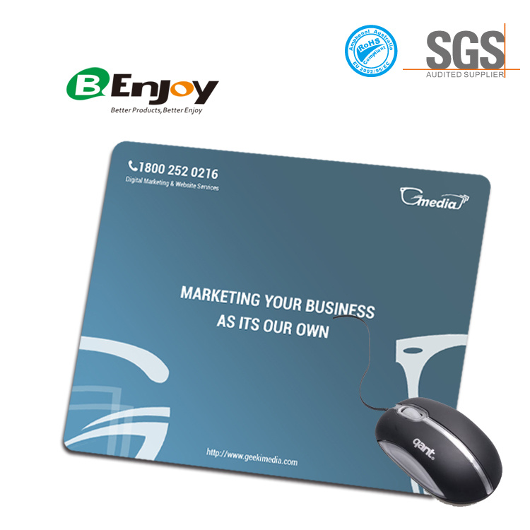 Custom Logo Printing Anti Slip Rubber Computer Mouse Pad