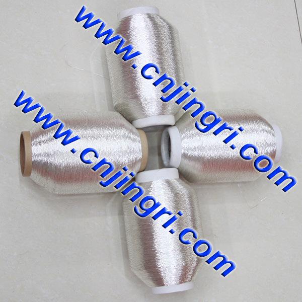 Pure Silver Metallic Yarn with Cotton Core
