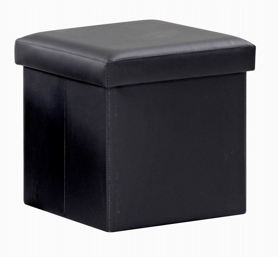 Modern Classic Faux Leather Folding Footstool/Ottoman with Storage (FS-717)