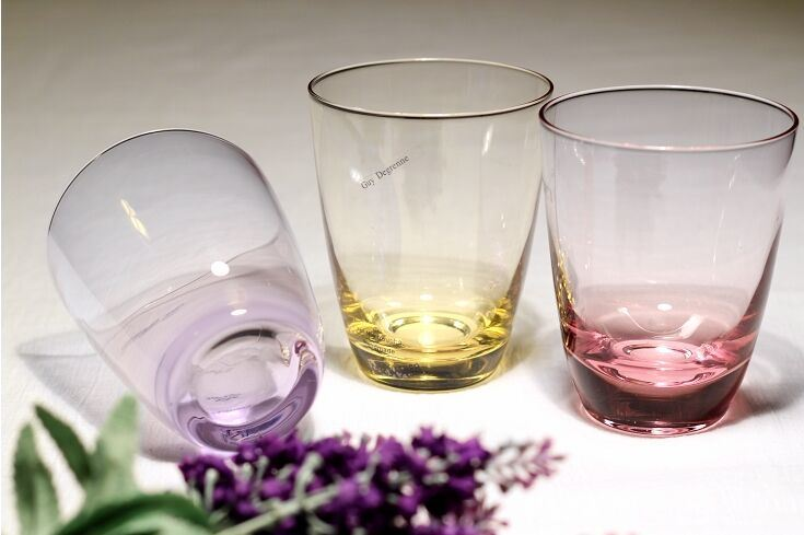 Printed/Colored Glass Water Cups, Mugs, Glassware