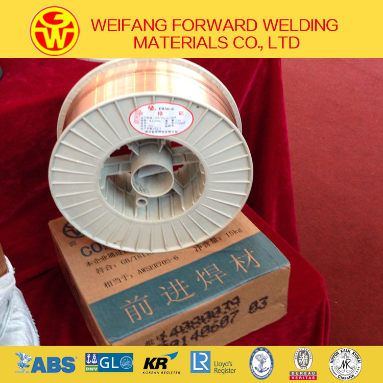 Golden Bridge 1.2mm 15kg/Spool Er70s-6 Solid Solder Welding Wire/ MIG Welding Wire with Copper Coated Ce/ ISO9001