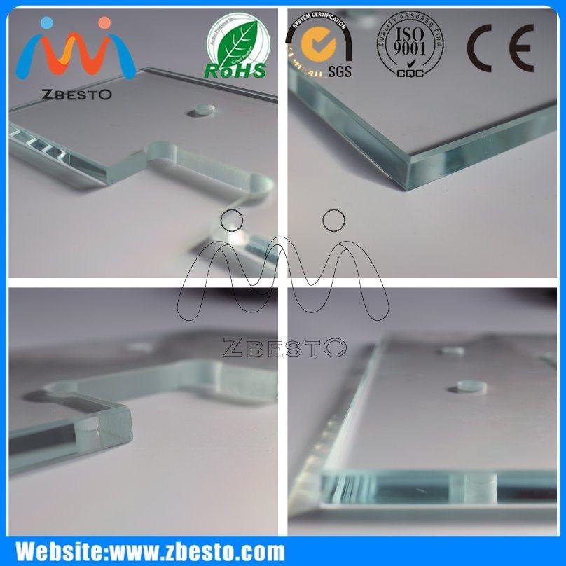 8mm, 10mm Wholesale Cheap Large Flat Shower Float Glass Screen
