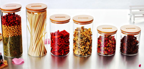 Eco-Friendly Food Grade Material Glass Jar Storage Food Jars