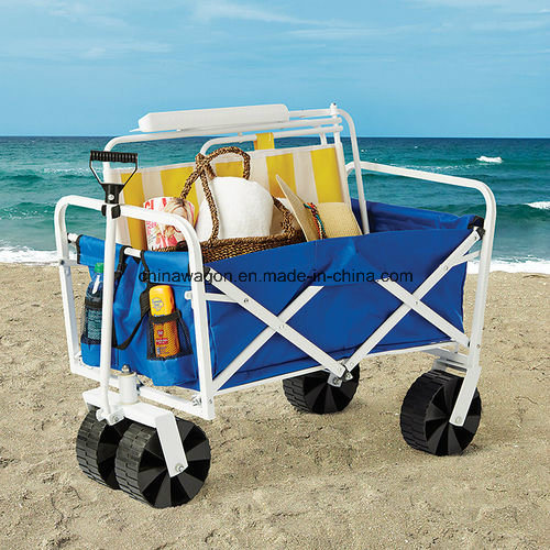 Flat-Free Tires Wheel Collapsible-Beach-Wagon