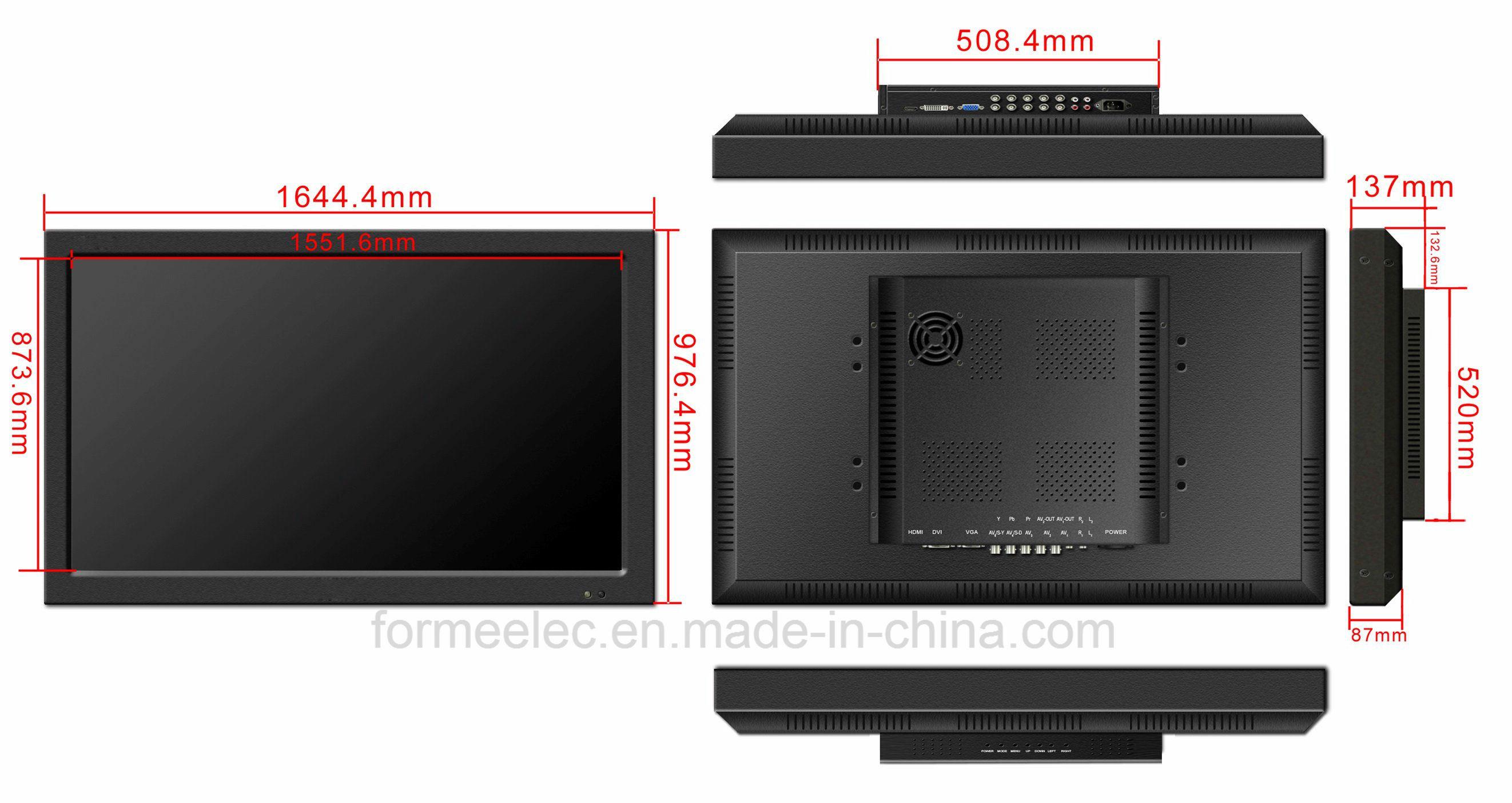 70 Inch LCD Monitor Bright 600nit LED Monitor