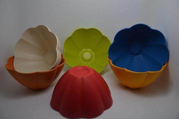 (BC-B1027) Bamboo Fiber Tableware Flower Bowl