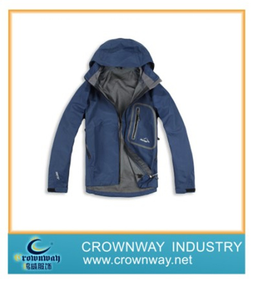 2014 New Design Windproof Snowboard Plain Skiing Jacket for Men
