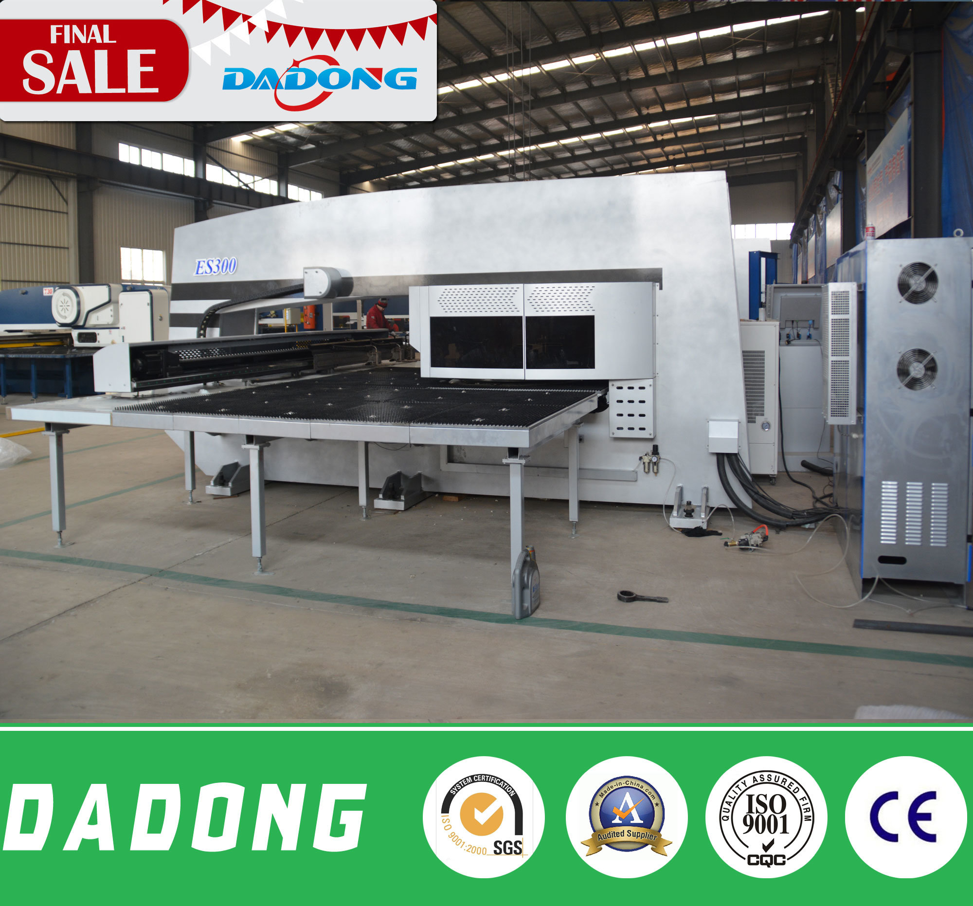 Dadong Brand CNC Servo High Speed Punching Press 12/16/20/24/32 Stations