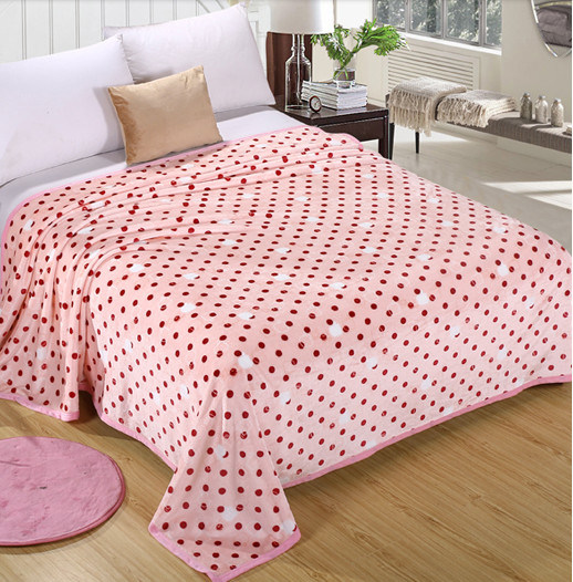 Super Soft Printed Flannel Blanket Sr-B170213-20 Printed Coral Fleece Blanket