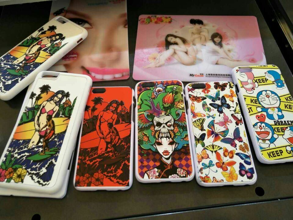 Digital Inkjet Multi-Color UV Phone Case Printer/Cell Phone Case UV Printer