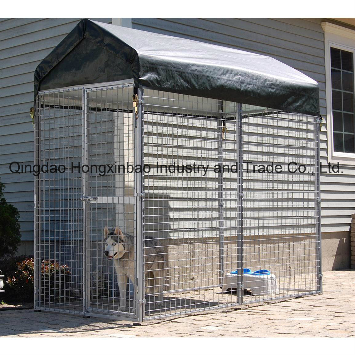Galvanized Wleded Wire Mesh Filled Outdoor Dog Fence/Dog Kennel/Dog Cage