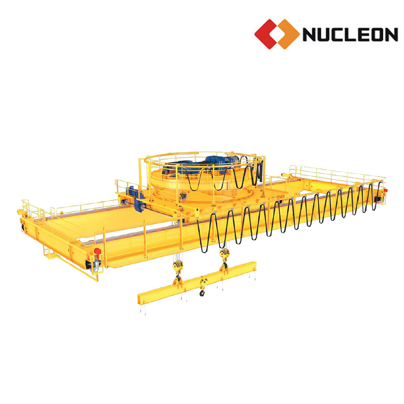 Steel Billet Tube Mill Used Double Girder Magnetic Lifting Crane