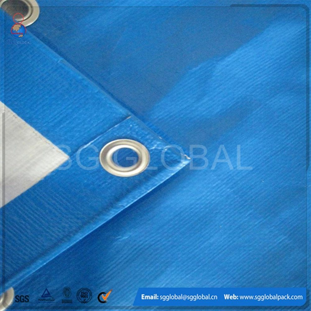 120GSM Waterproof Blue White PE Tarps