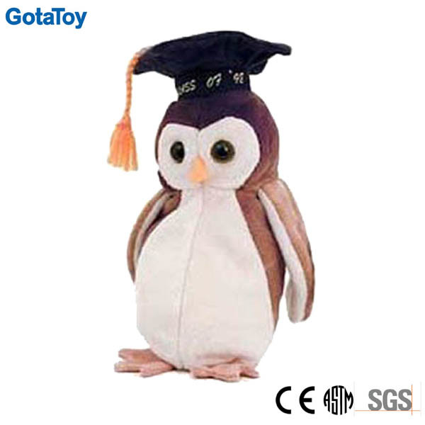 Best Selling Graduation Plush Toy Owl Graduation Stuffed Toy