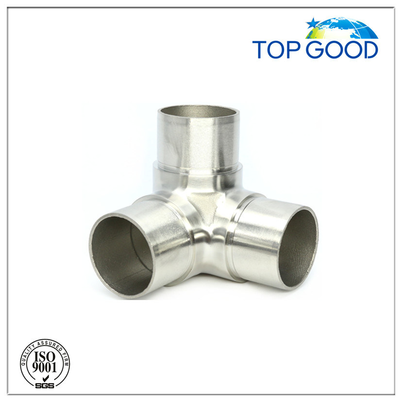 Stainless Steel Three Way Corner Tube Connector (52032)
