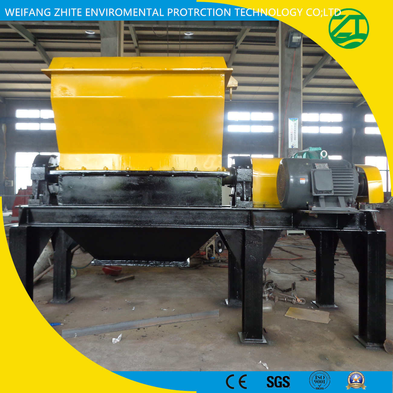 Efficient Two-Stage Shredder for Dead Pig/Cow/Chicken/Duck/Sheep/Horse/Municipal Waste/Foam