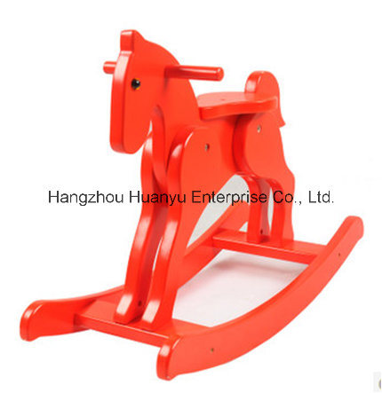 Factory Rupply Wooden Rocking Horse-Red Knight Rocker