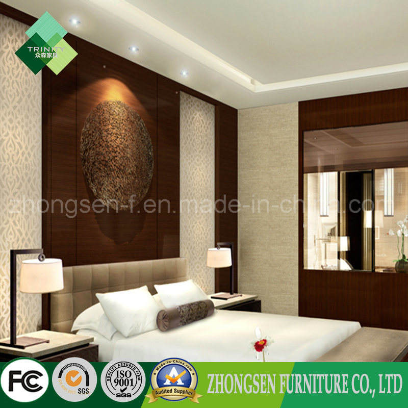 Latest Popular Royal Style Hotel Bedroom Furniture Set (ZSTF-08)