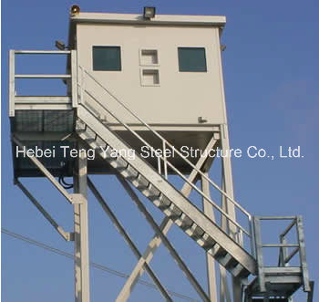 Self Supporting Guard Observation Lattice Steel Watch Tower
