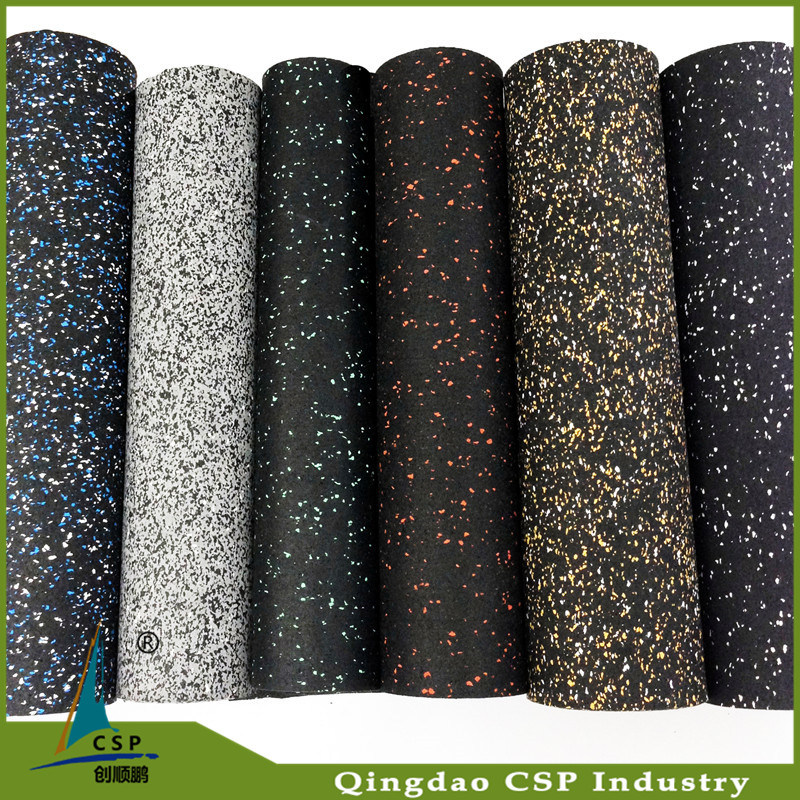 3-12mm Thick Colorful Gym Rubber Floor Rolls Rubber Mats