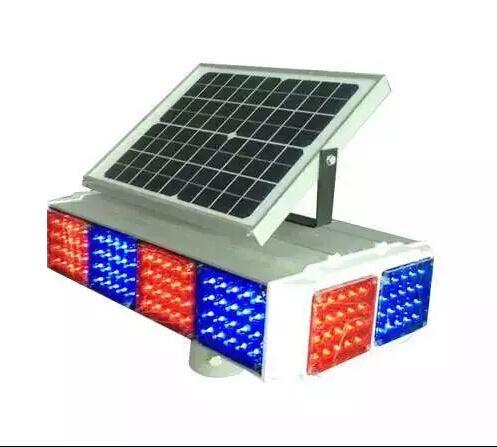 Traffic Road Four Side Visual Solar LED Police Flashing Warning Light