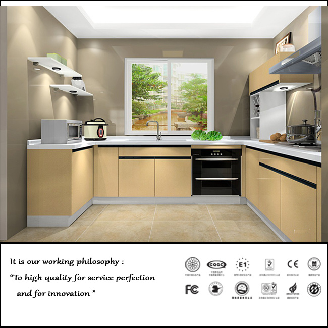High Quality UV MDF High Glossy Kitchen Cabinet (ZH056)