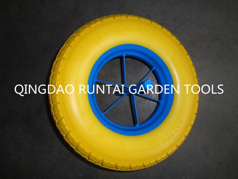 Hot Sale High Quality Durable PU Foam Wheel (4.00-8)