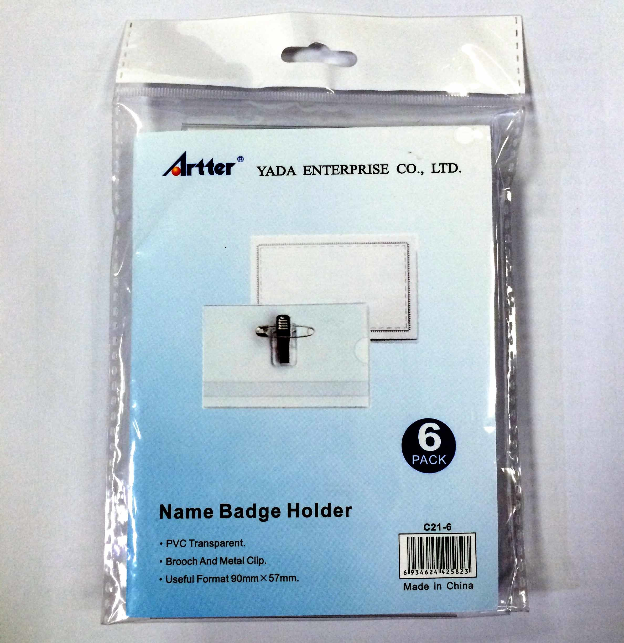 Clear PVC ID Card Holder with Clip