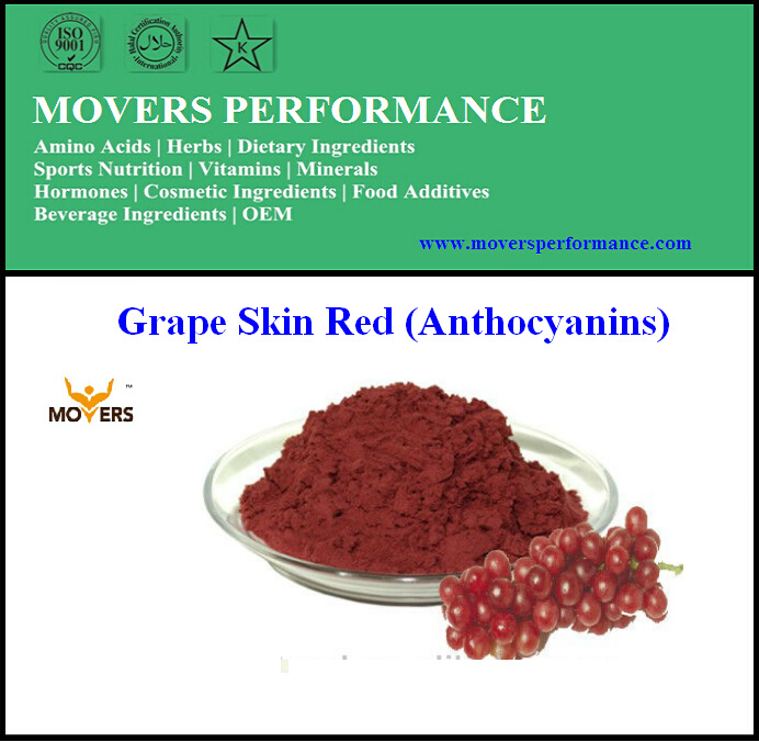 Pure Natural High Quality Grape Skin Extract (Anthocyanins)