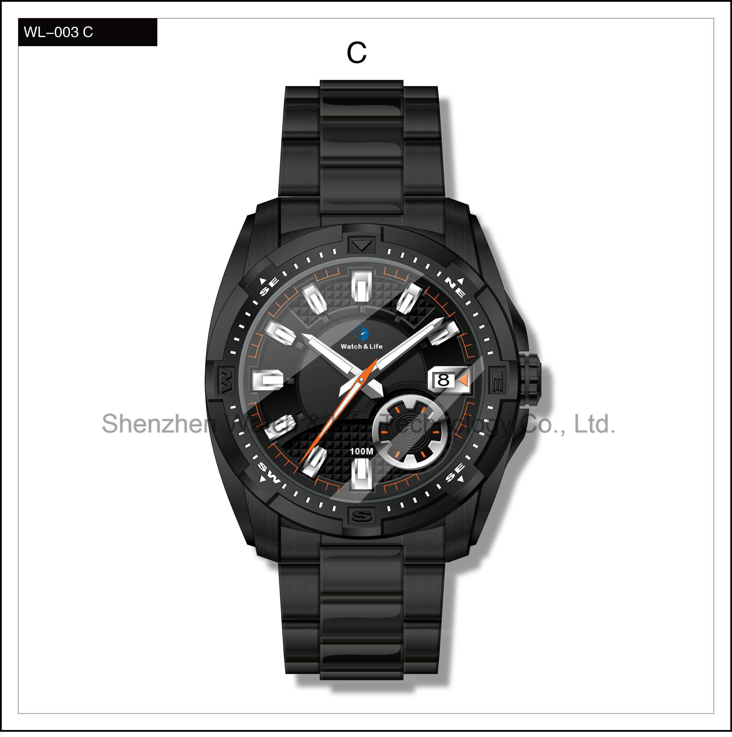 Mechanical Stain Steel Sport High Level Men′s Watch