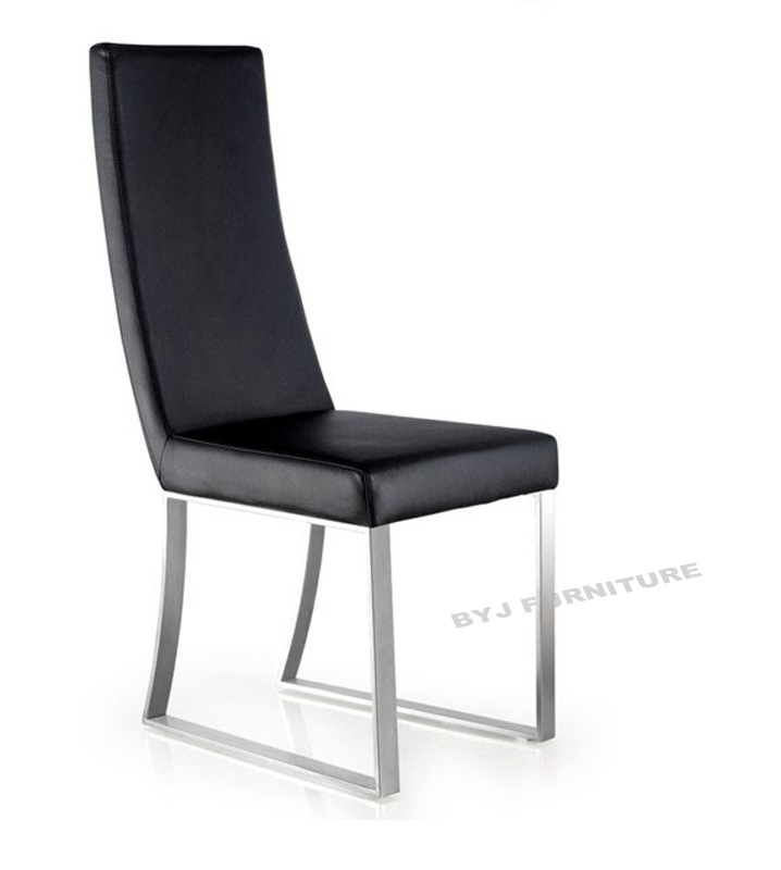 Dining Chair White Leather Modern Stainless Steel | eBay