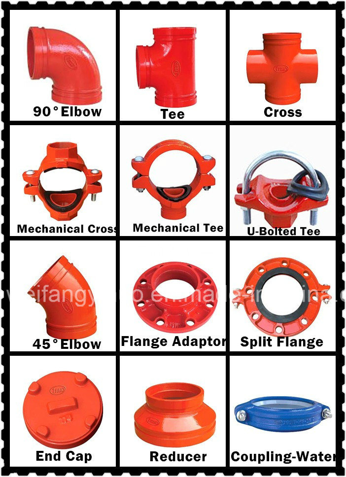 Grooved Pipe Fittings 300 Psi Grooved Reducing Cross with FM/UL/Ce
