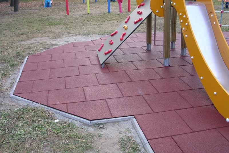 China Kindgarten Playground Rubber Tiles Outdoor Rubber Tile