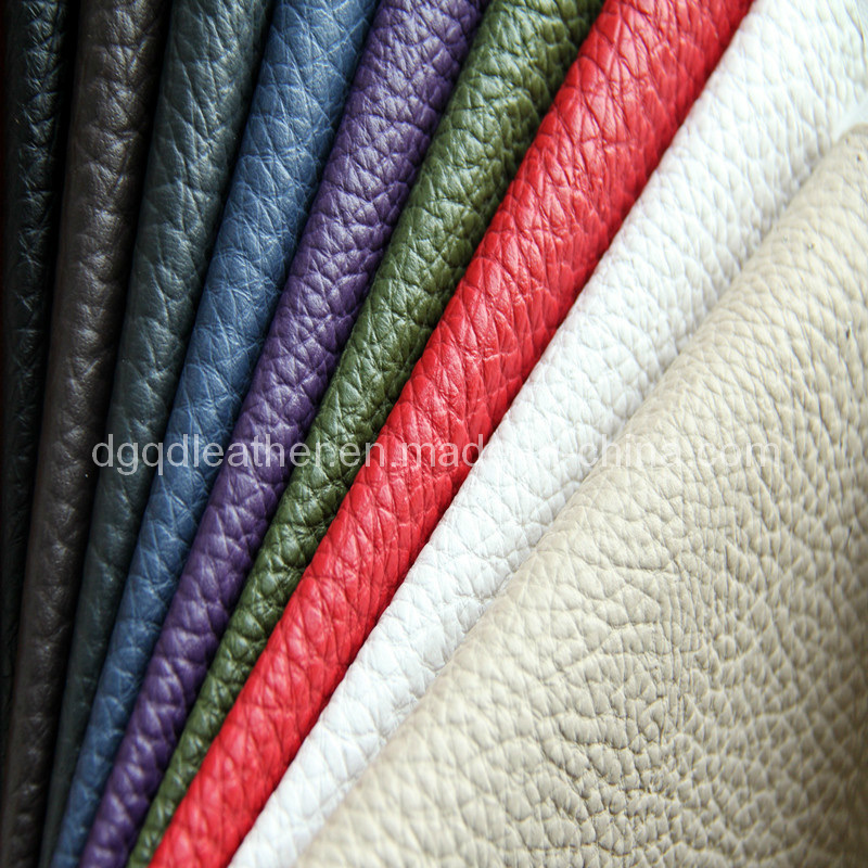 Imitation Real Leather Pattern Semi-PU Furniture Leather (QDL-1211A)
