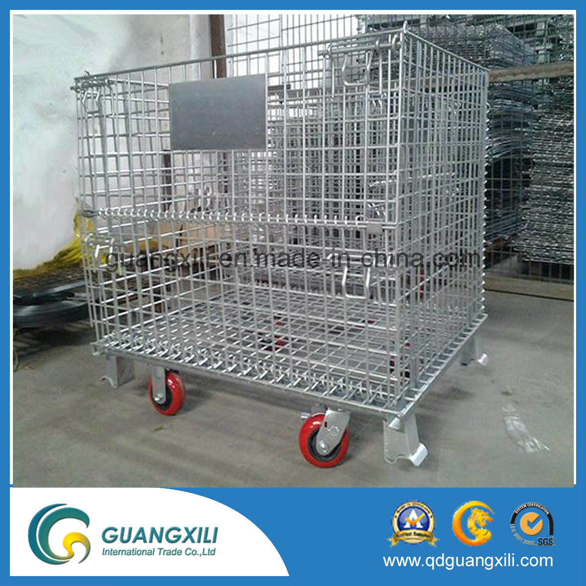Pull-Type Heavy Duty Foldable Storage Roll Cage